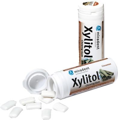 Hager Pharma GmbH MIRADENT Zahnpflegekaugummi Xylitol Zimt 04302784