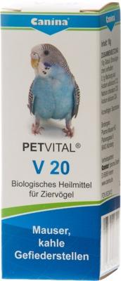 PETVITAL V 20 Globuli für Vögel