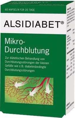 Alsitan GmbH ALSIDIABET Diabetiker Mikro Durchblutung Kapseln 03727671