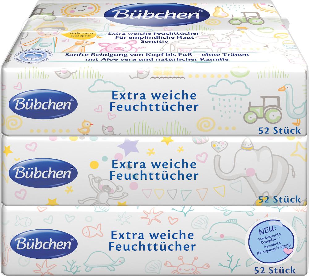 Bübchen Skincare GmbH Bübchen extra weiche Feuchttücher 3x52 St. 13868728