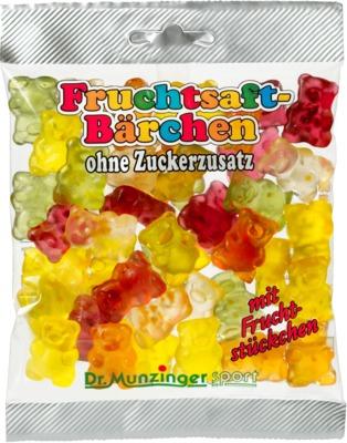 Dr. Munzinger Fruchtsaft-Bärchen ohne Zuckerzusatz