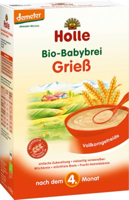 Holle baby food AG HOLLE Bio Babybrei Grieß 02907862