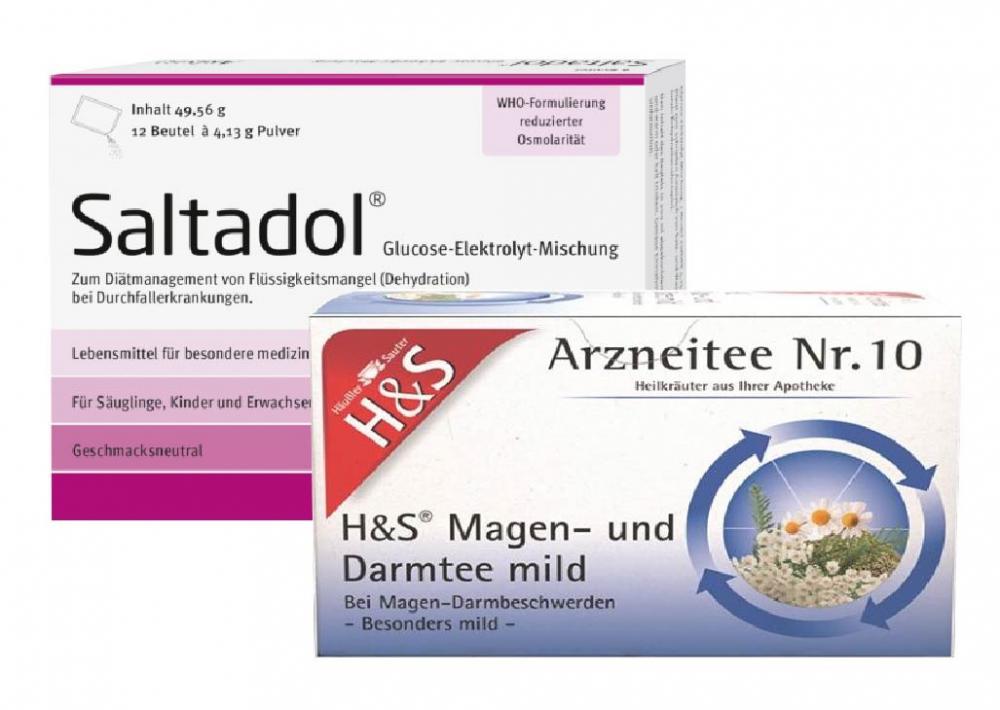 Diverse Saltadol + H&S Magen- und Darmtee Set 81896426