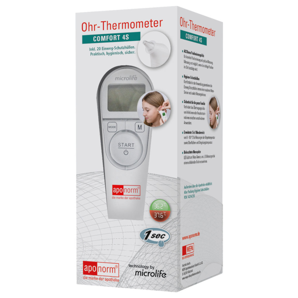 WEPA Apothekenbedarf GmbH & Co. KG aponorm Ohr-Thermometer COMFORT 4S 14294241