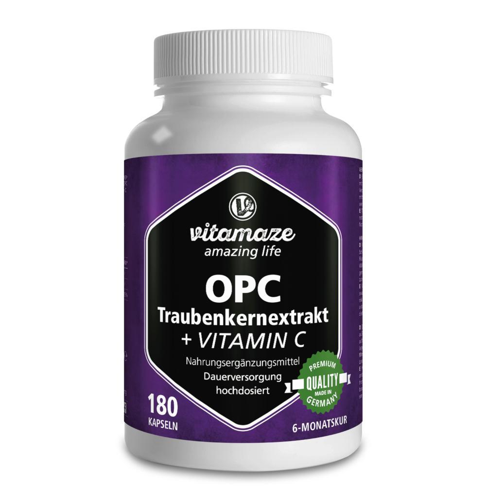 Vitamaze GmbH OPC TRAUBENKERNEXTRAKT hochdosiert+Vitamin C 12580586