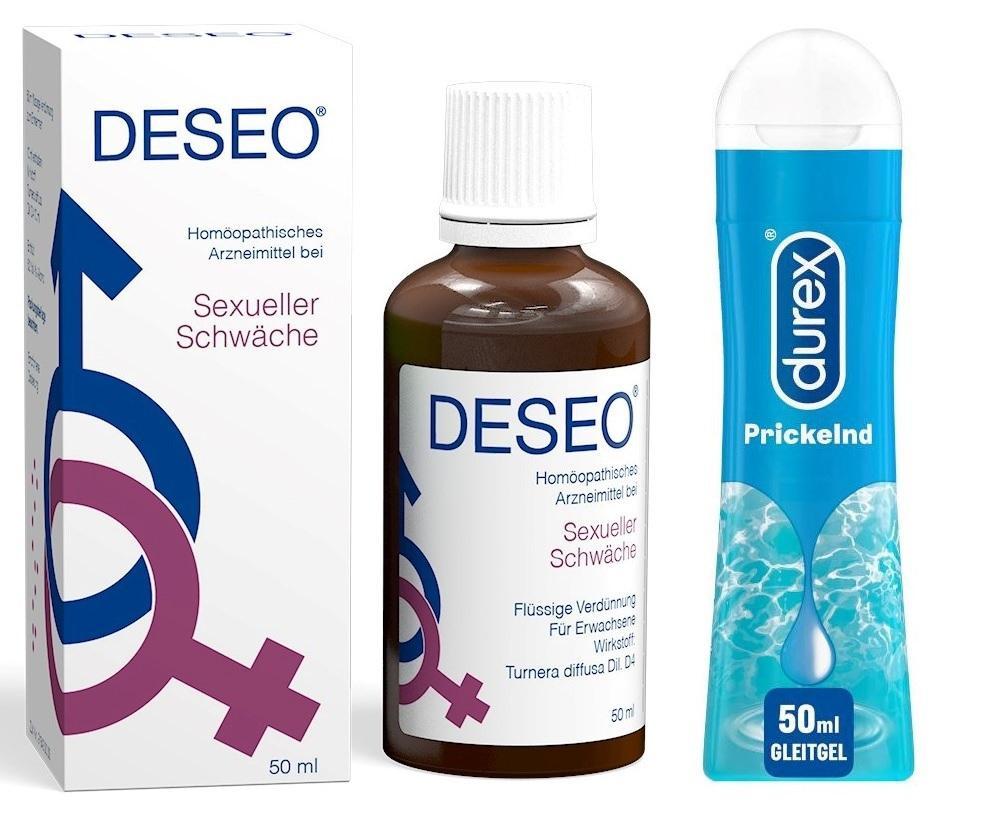 Diverse Deseo+DUREX Play Prickelnd Gleitgel Set 81895154
