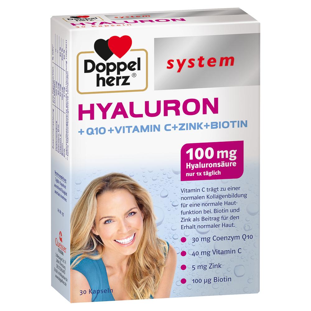 Doppelherz Hyaluron +Q10 +Vitamin C +Zink +Biotin