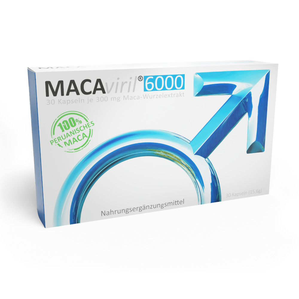 avenar pharma GmbH MACAviril 6000 300mg/Kapsel Maca-Wurzelextrakt 14241173