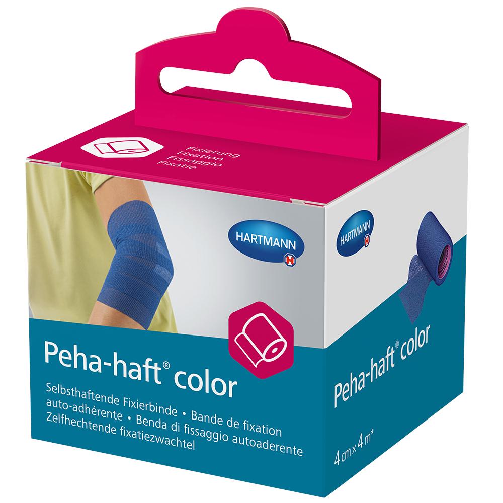 PEHA-HAFT Color Fixierbinde latexf.4 cmx4 m blau