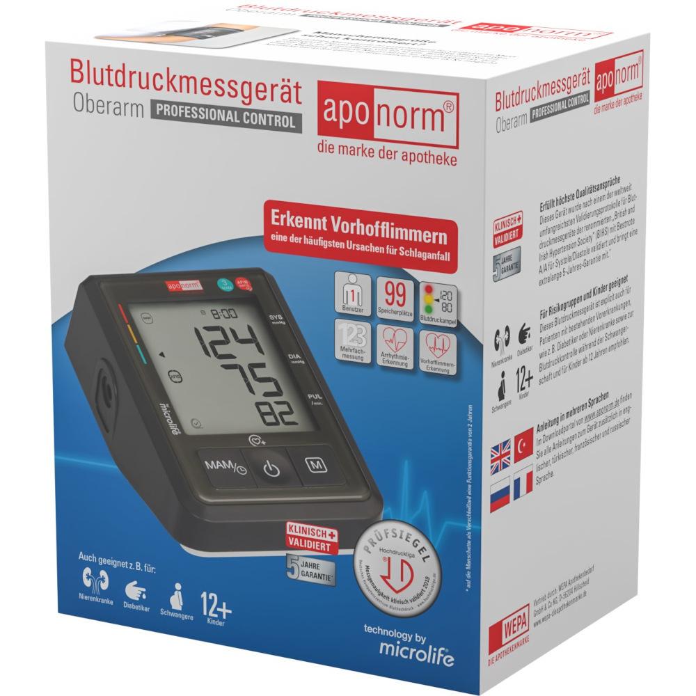 aponorm Blutdruckmessgerät Oberarm PROFESSIONAL CONTROL