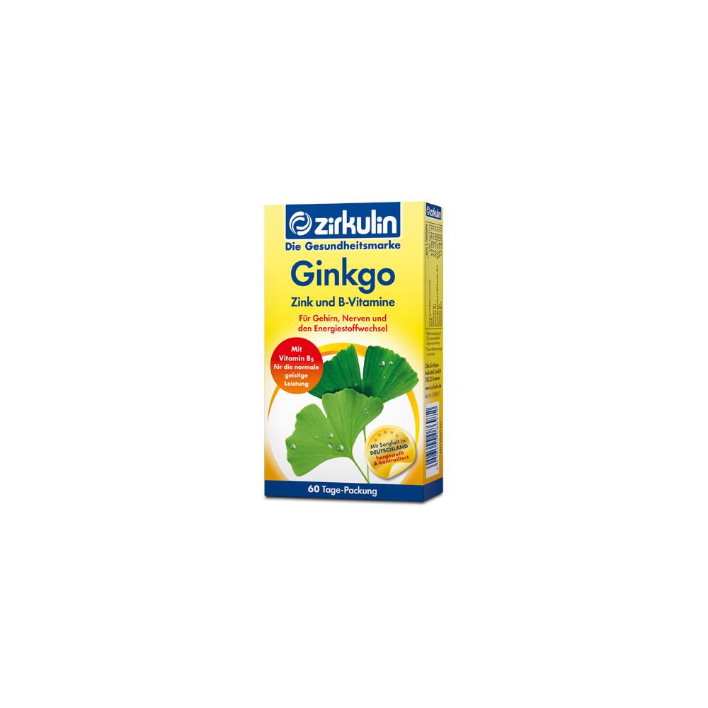 DISTRICON GmbH ZIRKULIN Ginkgo Zink und B-Vitamine Filmtabletten 13567211