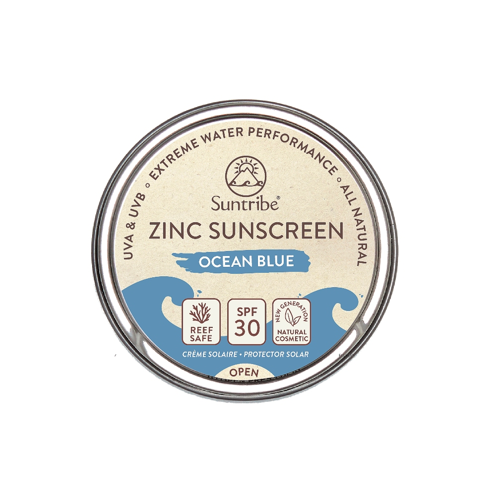 Suntribe AB Suntribe Bio-Zinksonnencreme Gesicht & Sport LSF 30 Ozeanblau 16703057