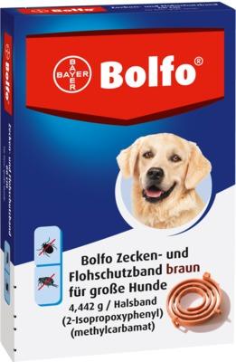 Bolflo Flohschutzband braun für große Hunde