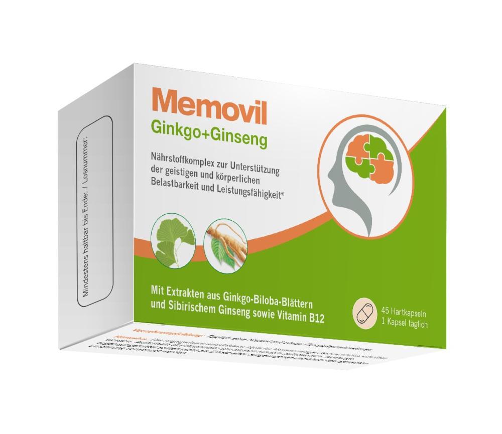 Pharmatura GmbH & Co. KG Memovil Ginkgo+Ginseng 17373716
