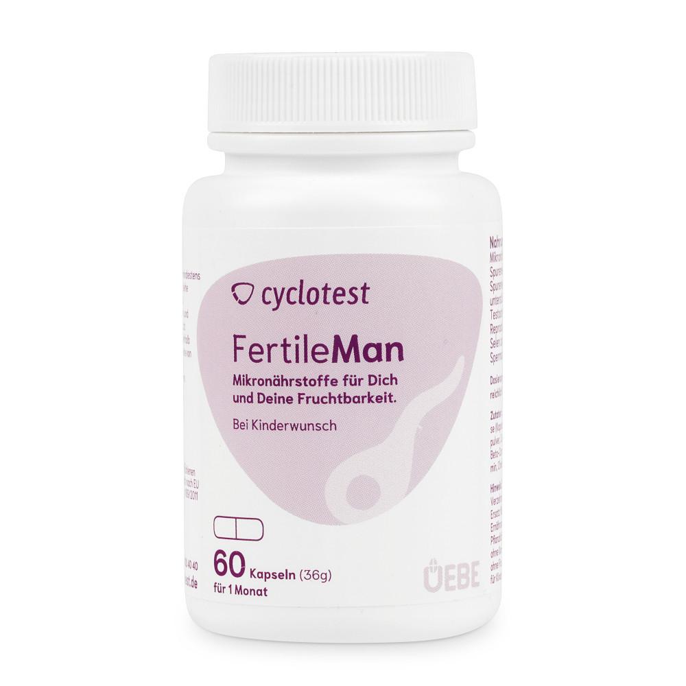 Uebe Medical GmbH CYCLOTEST fertile man Mikronährstoffe Kapseln 06834775