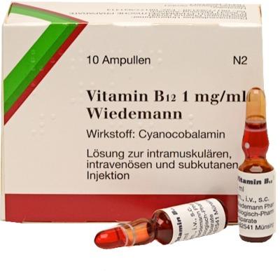 Wiedemann Pharma GmbH VITAMIN B12 Wiedemann Ampullen 02260834