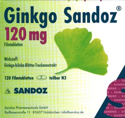 Hexal AG Ginkgo Sandoz 120mg 01684012