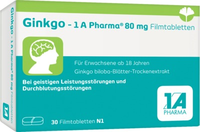 1A Pharma GmbH Ginkgo 1A Pharma 80mg 13856872