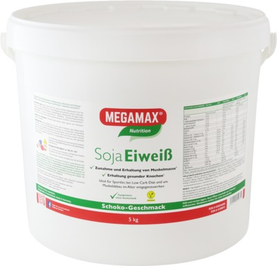 Megamax B.V. MEGAMAX Soja Eiweiß Schoko Pulver 03034608