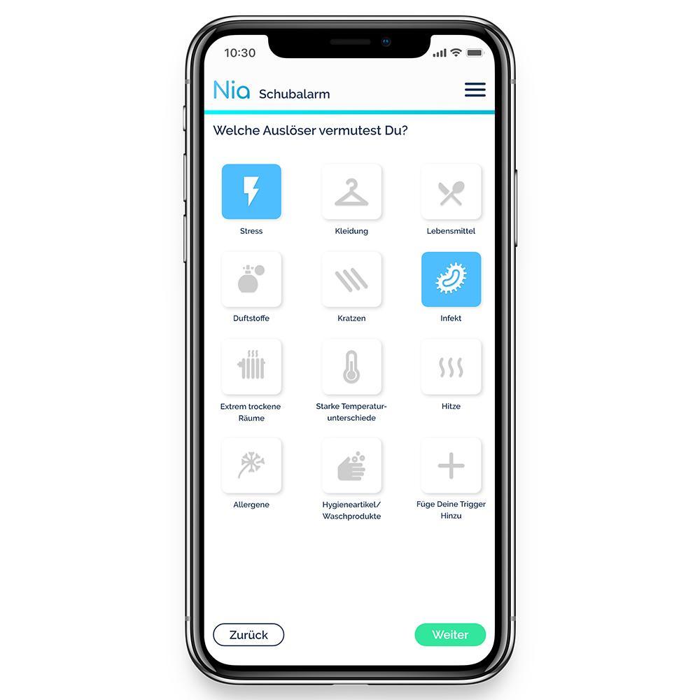 Diverse Nia Health App Neurodermitis 81901469