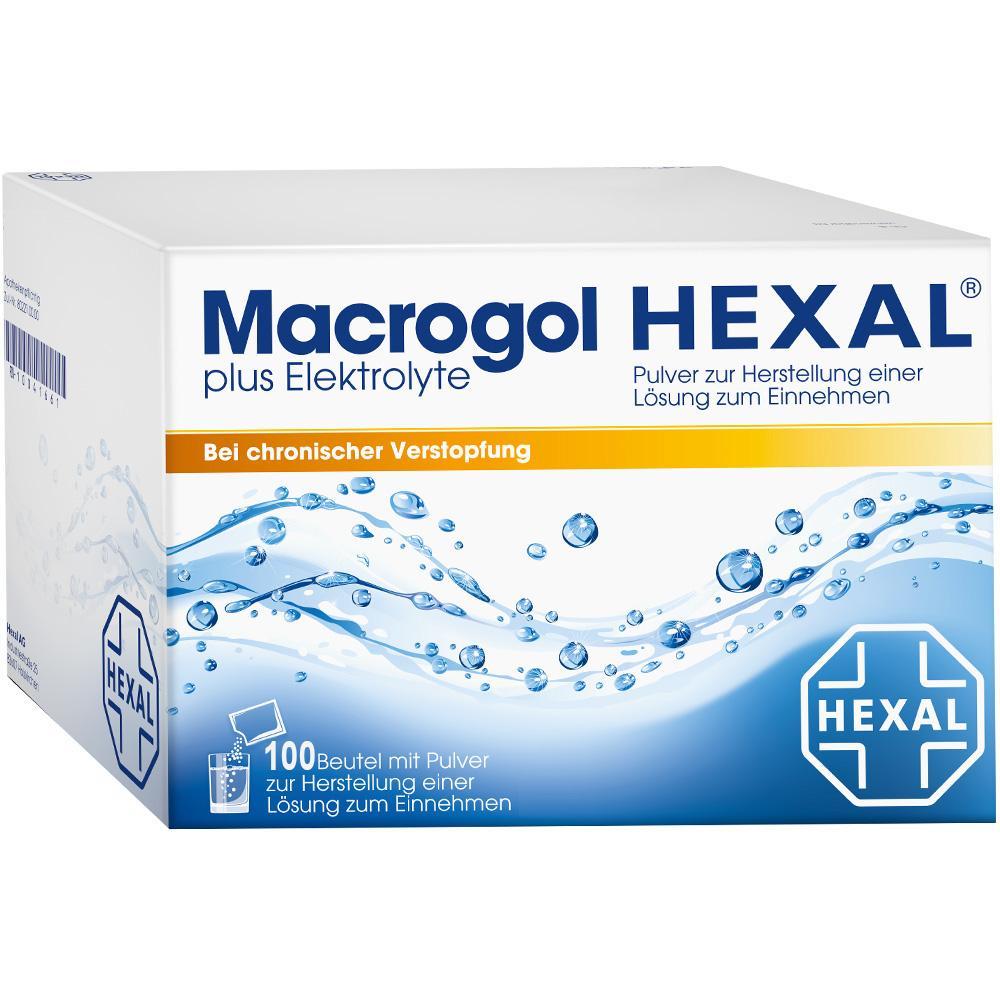 Hexal AG Macrogol HEXAL plus Elektrolyte Pulver 08875442
