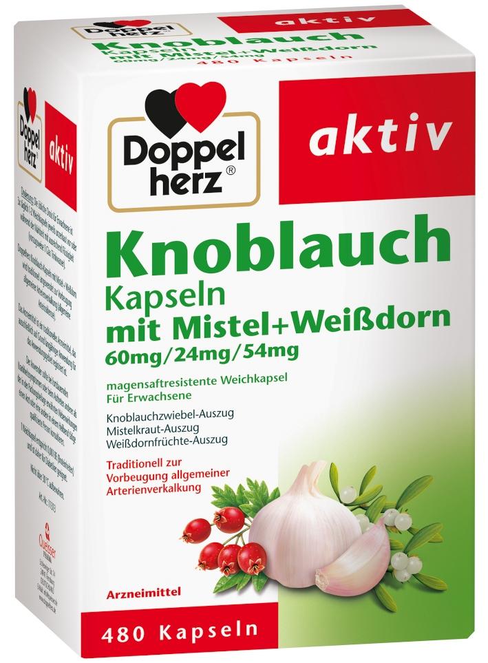 Queisser Pharma GmbH & Co. KG Doppelherz aktiv Knoblauch Kapsseln mit Mistel + Weißdorn 15994609