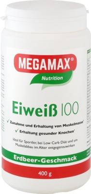 Megamax B.V. EIWEISS 100 Erdbeer Megamax Pulver 07378227