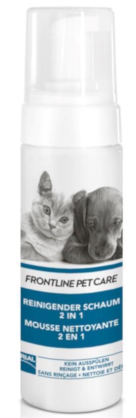 Frontline Pet Care reinigender Schaum 2in1 für Hunde und Katzen