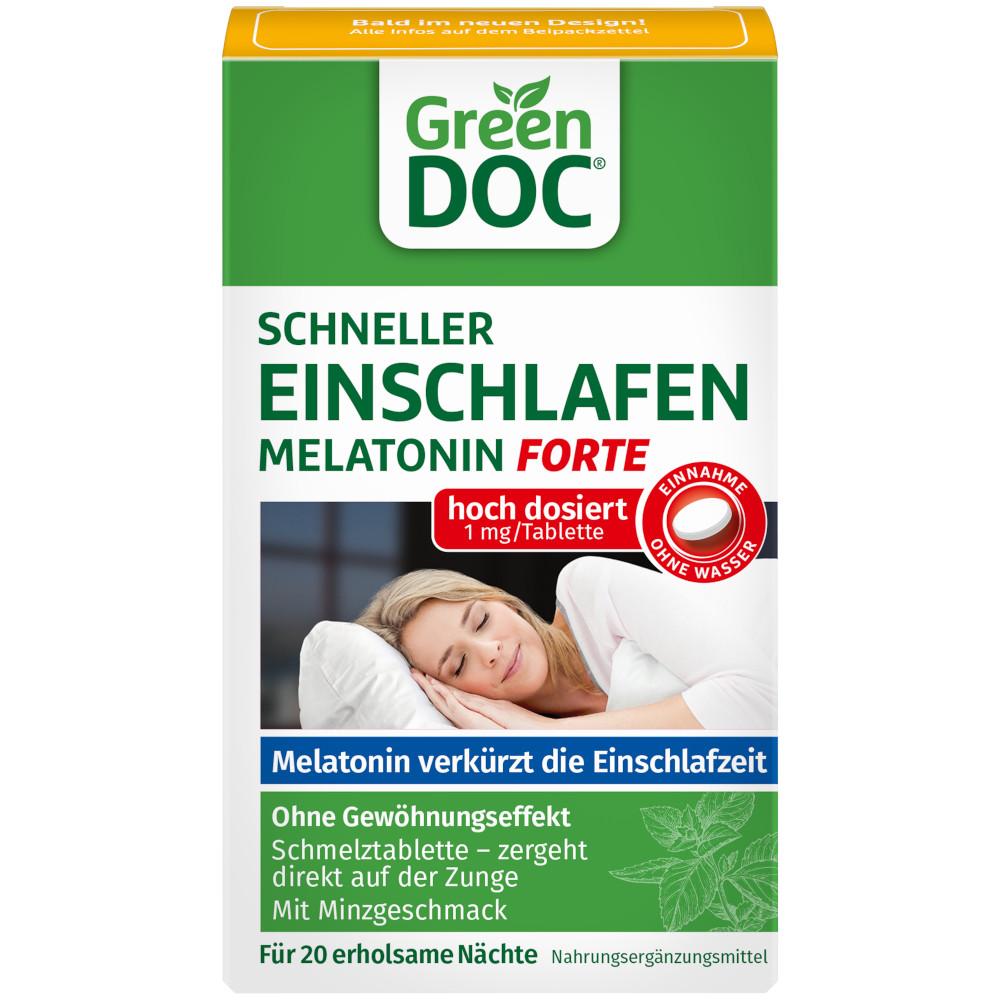 DISTRICON GmbH GreenDoc Schneller Einschlafen Melatonin forte 16021300
