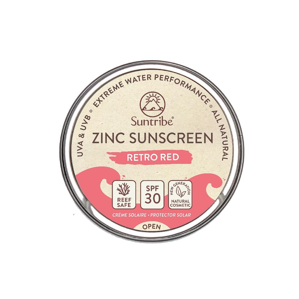 Suntribe AB Suntribe Bio-Zinksonnencreme Gesicht & Sport LSF 30 Retro Rot 16703086