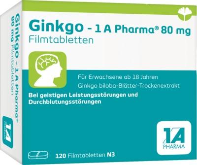 1A Pharma GmbH Ginkgo 1A Pharma 80mg 13856895