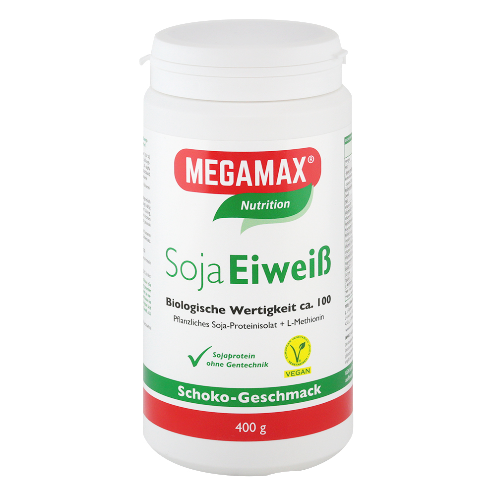 Megamax B.V. SOJA EIWEISS 80+Methionin Schoko Pulver 01444928