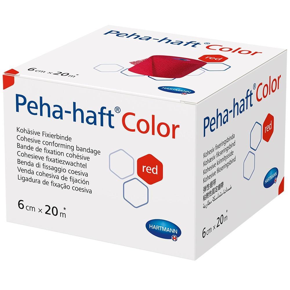 PEHA-HAFT Color Fixierbinde latexfrei 6 cmx20 m rot