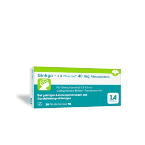 1A Pharma GmbH Ginkgo 1A Pharma 40mg 13879732