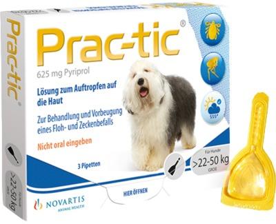 Prac-tic für große Hunde 22-50 kg Einzeldosispipetten