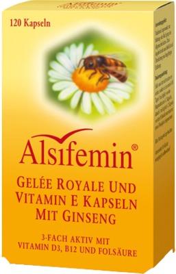 Alsitan GmbH ALSIFEMIN Gelee Royal+Vit.E m.Ginseng Kapseln 02201292