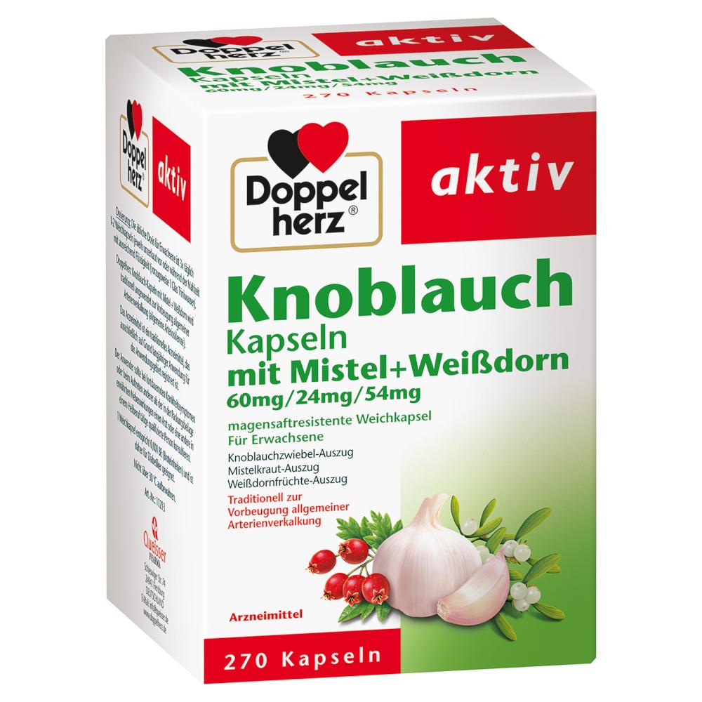 Queisser Pharma GmbH & Co. KG Doppelherz aktiv Knoblauch Kapseln mit Mistel + Weißdorn 15994590