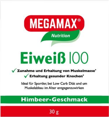 Megamax B.V. EIWEISS 100 Himbeer Megamax Pulver 09198096
