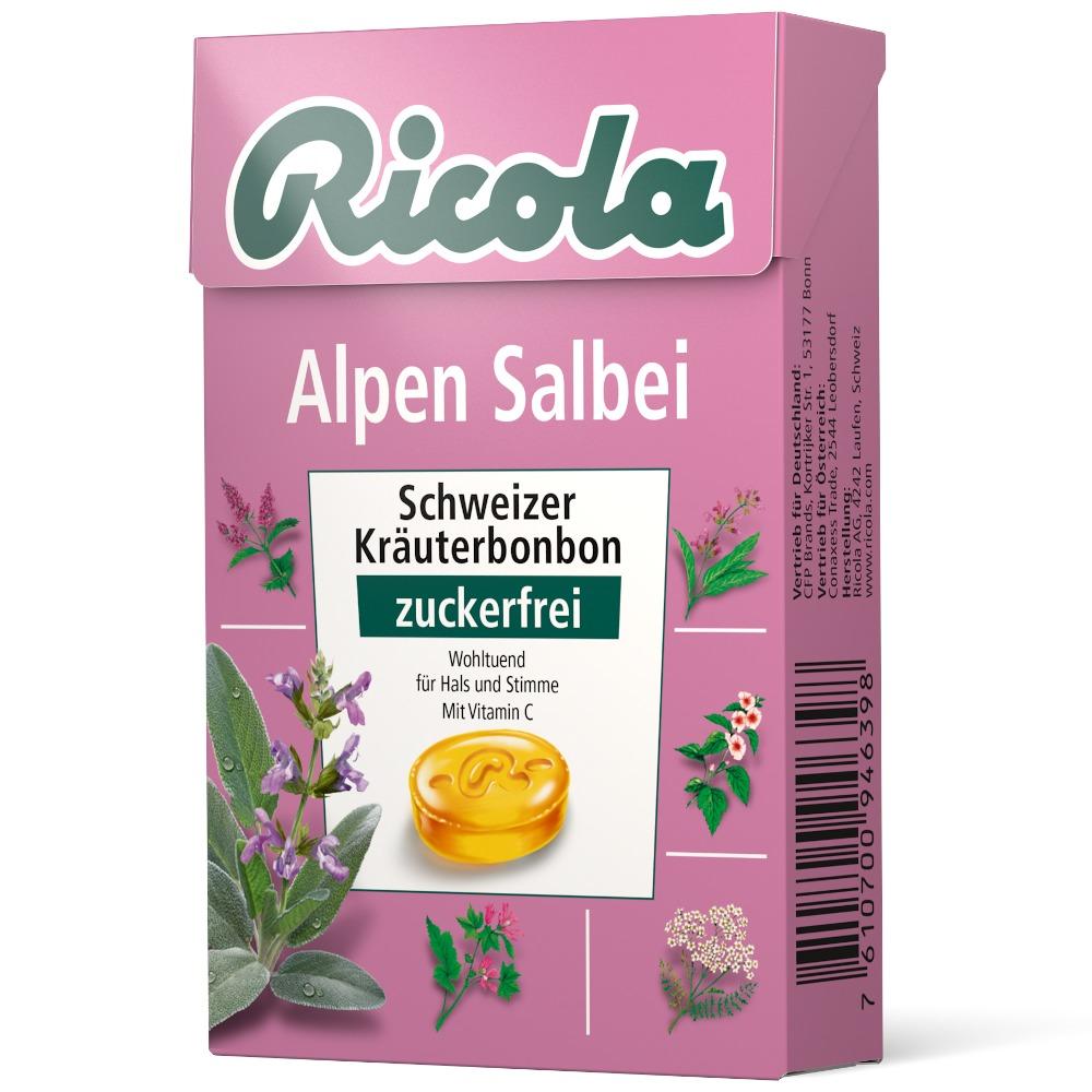 Queisser Pharma GmbH & Co. KG Ricola Alpen Salbei Schweizer Kräuterbonbon zuckerfrei 10943435