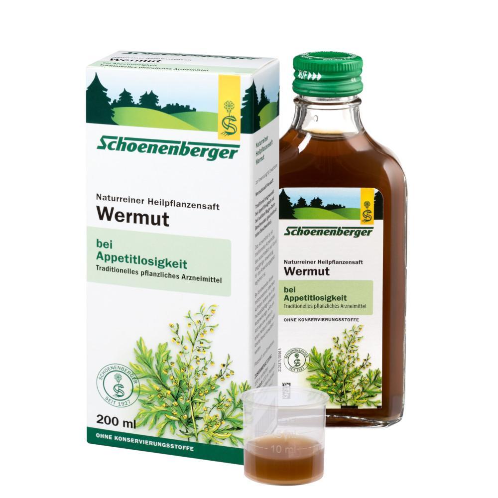 SALUS Pharma GmbH Wermut naturreiner Heilpflanzensaft Schoenenberger 00692392