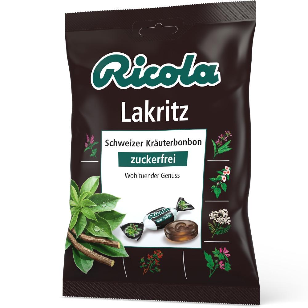 Queisser Pharma GmbH & Co. KG Ricola Lakritz Schweizer Kräuterhbonbon zuckerfrei 01565448