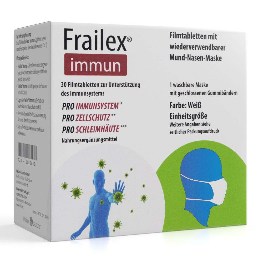 Frailex immun + wiederverwendbare Mund- Nasen- Maske
