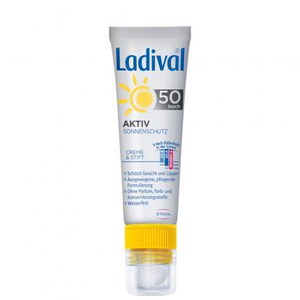LADIVAL Aktiv Sonnenschutz f.Gesicht u.Lipp.LSF 50