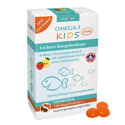 Norsan Omega-3 Kids Jelly Dragees Vorratspackung