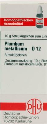 PLUMBUM METALLICUM D 12 Globuli