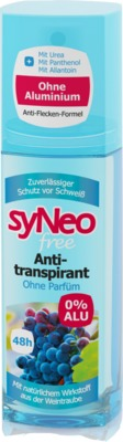 SYNEO free 48h Antitranspirant Pumpspray