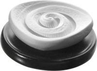 DUFTSTEIN Energiespirale Keramikteller schwarz