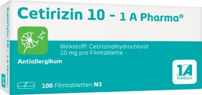 Cetirizin 10 - 1A Pharma