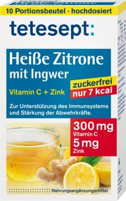 tetesept Heiße zitrone mit Ingwer Vitamin C + Zink zuckerfrei