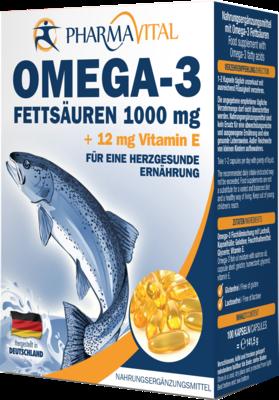 OMEGA 3 Fettsäuren 1000 mg+12 mg Vit.E Kapseln